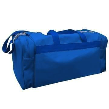 USA Made Poly Travel Carry On Duffels, Royal Blue-Royal Blue, 8006729-02-A03