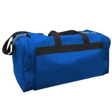 USA Made Poly Travel Carry On Duffels, Royal Blue-Black, 8006729-02-A0R