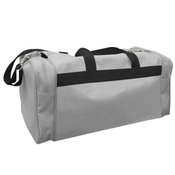 USA Made Poly Travel Carry On Duffels, Grey-Black, 8006729-02-A1R