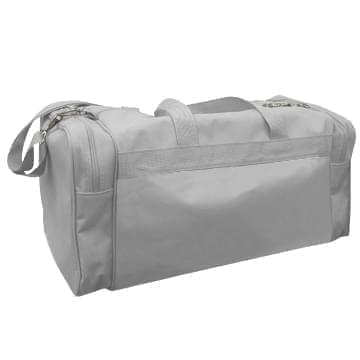 USA Made Poly Travel Carry On Duffels, Grey-Grey, 8006729-02-A1U