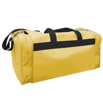 USA Made Poly Travel Carry On Duffels, Gold-Black, 8006729-02-A4R
