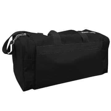 USA Made Poly Travel Carry On Duffels, Black-Black, 8006729-02-AOR