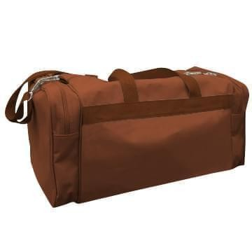 USA Made Poly Travel Carry On Duffels, Brown-Brown, 8006729-02-APS