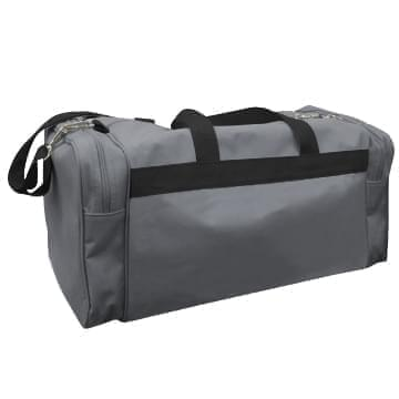 USA Made Poly Travel Carry On Duffels, Graphite-Black, 8006729-02-ARR
