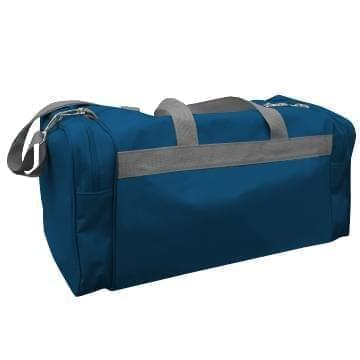 USA Made Poly Travel Carry On Duffels, Navy-Graphite, 8006729-02-AWT