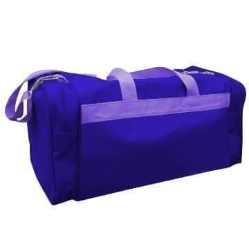 USA Made Poly Travel Carry On Duffels, Purple-Purple, 8006729-02-AY1