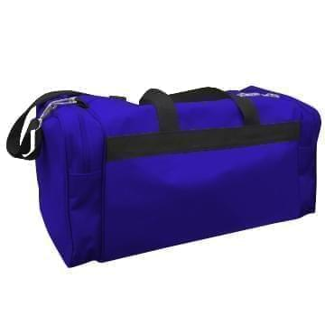 USA Made Poly Travel Carry On Duffels, Purple-Black, 8006729-02-AYR