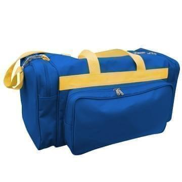USA Made Poly Vacation Carryon Duffel Bags, Royal Blue-Gold, 8006729-A05