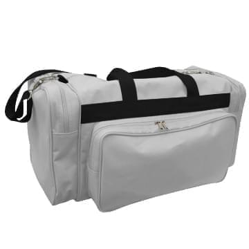 USA Made Poly Vacation Carryon Duffel Bags, Grey-Black, 8006729-A1R