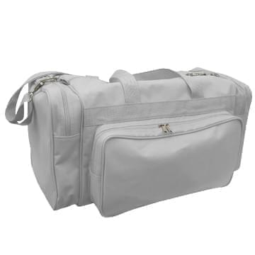 USA Made Poly Vacation Carryon Duffel Bags, Grey-Grey, 8006729-A1U