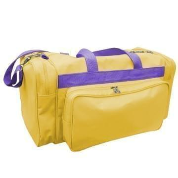 USA Made Poly Vacation Carryon Duffel Bags, Gold-Purple, 8006729-A41