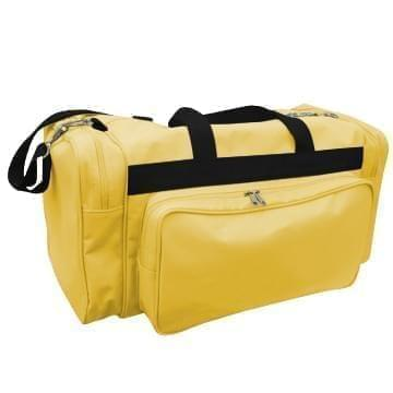 USA Made Poly Vacation Carryon Duffel Bags, Gold-Black, 8006729-A4R