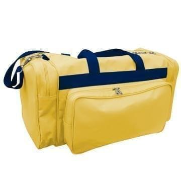 USA Made Poly Vacation Carryon Duffel Bags, Gold-Navy, 8006729-A4Z