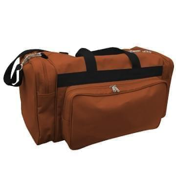 USA Made Poly Vacation Carryon Duffel Bags, Brown-Black, 8006729-APR