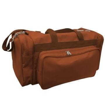USA Made Poly Vacation Carryon Duffel Bags, Brown-Brown, 8006729-APS