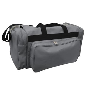 USA Made Poly Vacation Carryon Duffel Bags, Graphite-Black, 8006729-ARR