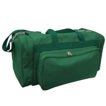 USA Made Poly Vacation Carryon Duffel Bags, Hunter Green-Hunter Green, 8006729-ASV