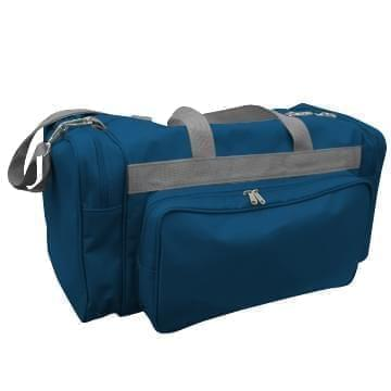 USA Made Poly Vacation Carryon Duffel Bags, Navy-Graphite, 8006729-AWT