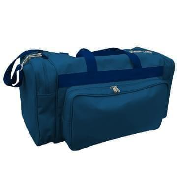 USA Made Poly Vacation Carryon Duffel Bags, Navy-Navy, 8006729-AWZ