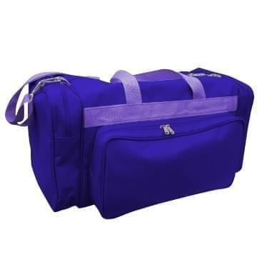 USA Made Poly Vacation Carryon Duffel Bags, Purple-Purple, 8006729-AY1