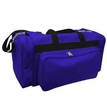 USA Made Poly Vacation Carryon Duffel Bags, Purple-Black, 8006729-AYR