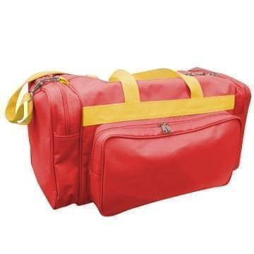 USA Made Poly Vacation Carryon Duffel Bags, Red-Gold, 8006729-AZ5