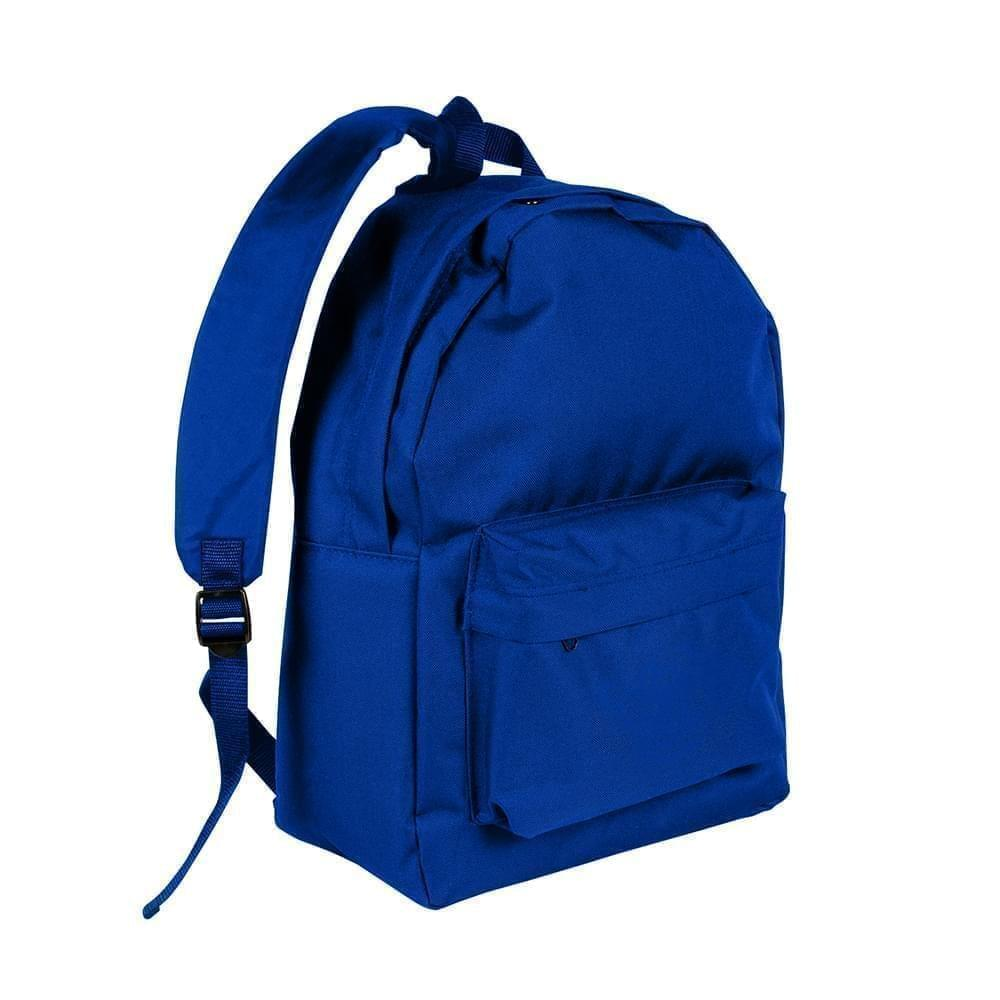 USA Made Nylon Poly Backpack Knapsacks, Royal Blue-Royal Blue, 8960-A03