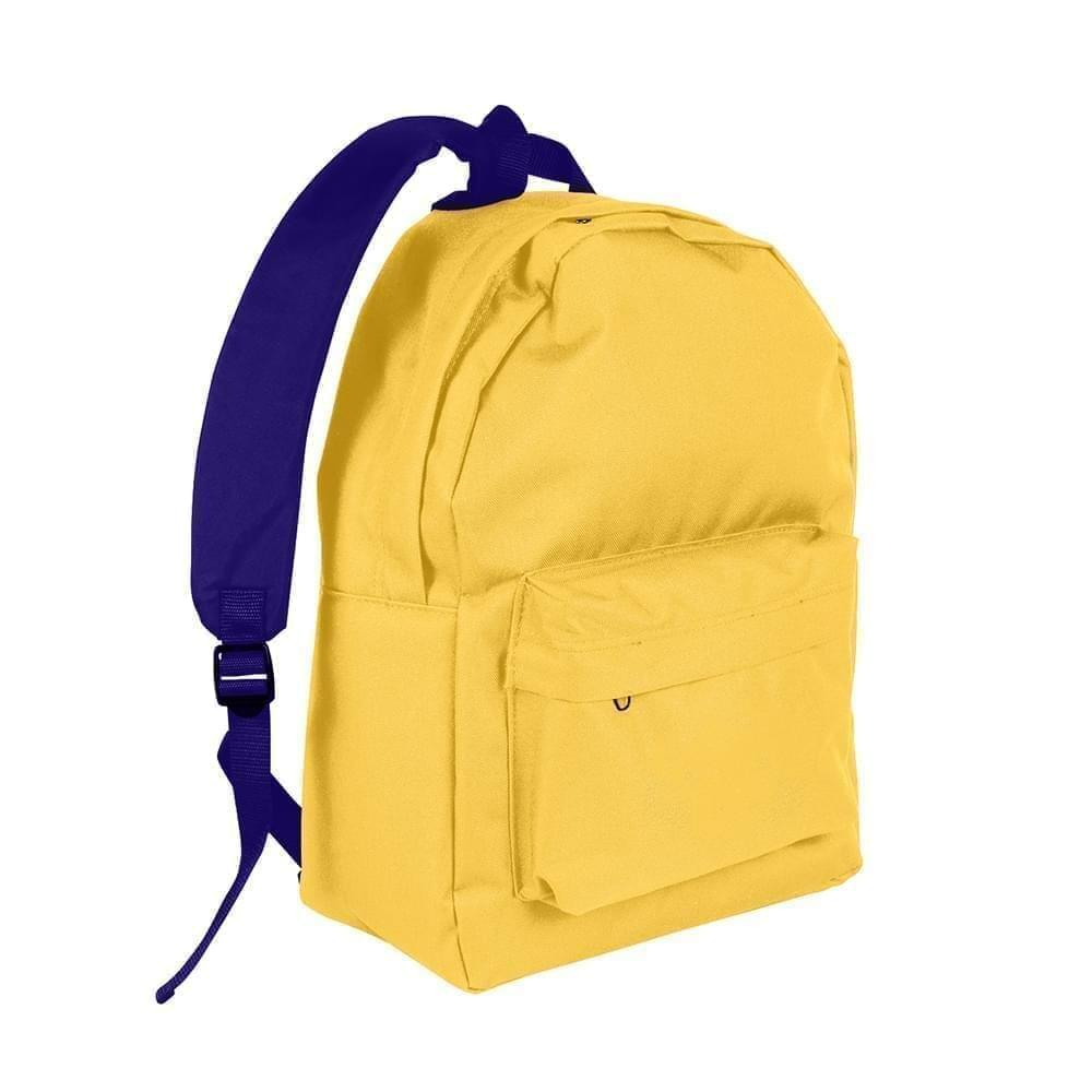 USA Made Nylon Poly Backpack Knapsacks, Gold-Purple, 8960-A41