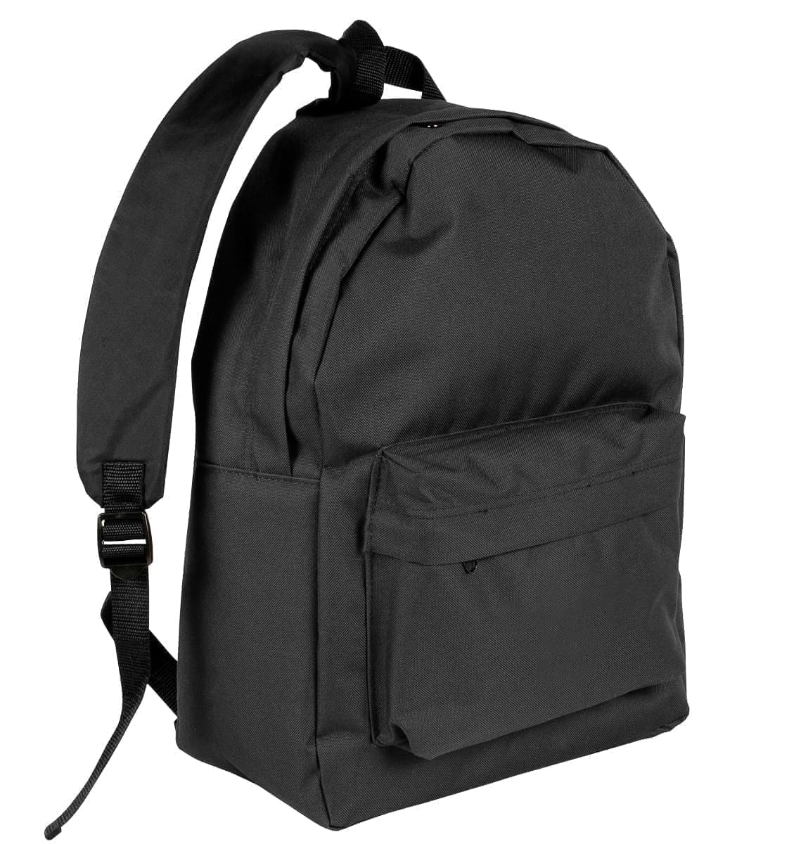 USA Made Nylon Poly Backpack Knapsacks, Black-Black, 8960-AOR