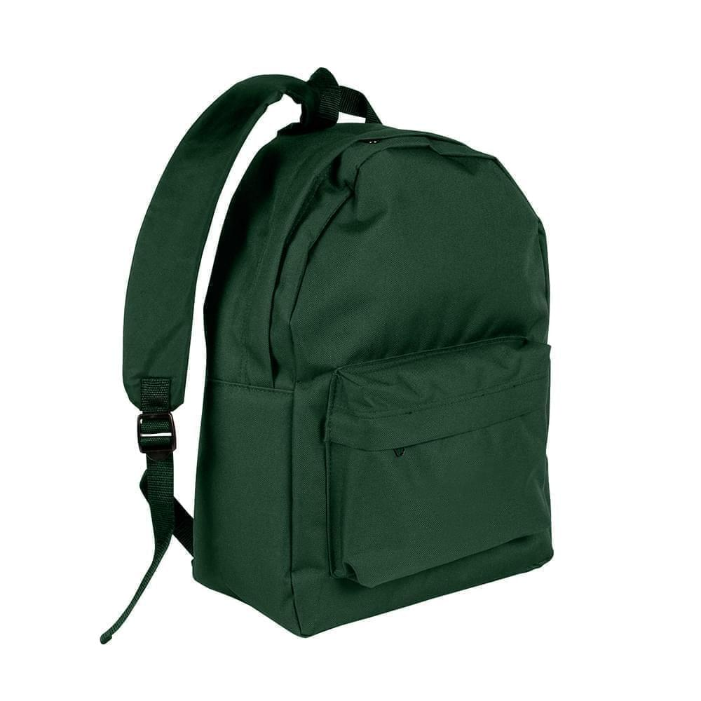 USA Made Nylon Poly Backpack Knapsacks, Hunter Green-Hunter Green, 8960-ASV
