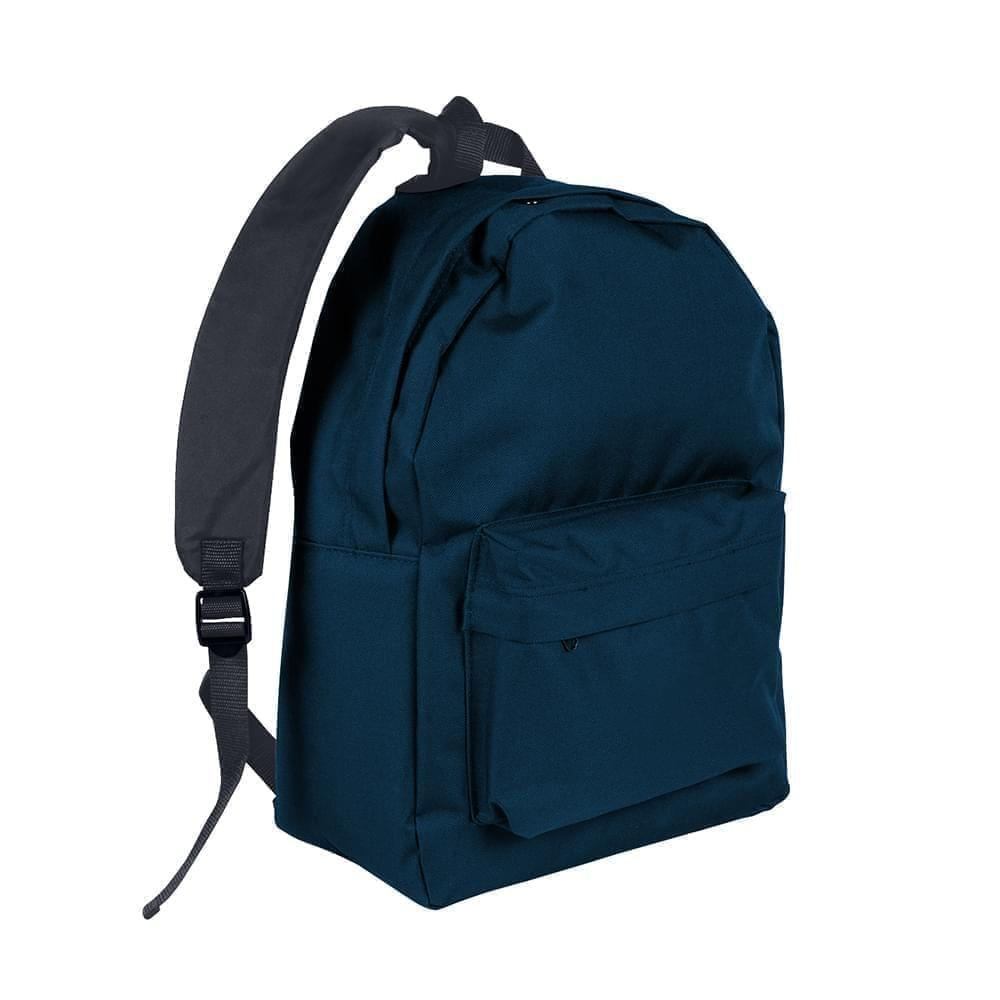 USA Made Nylon Poly Backpack Knapsacks, Navy-Graphite, 8960-AWT