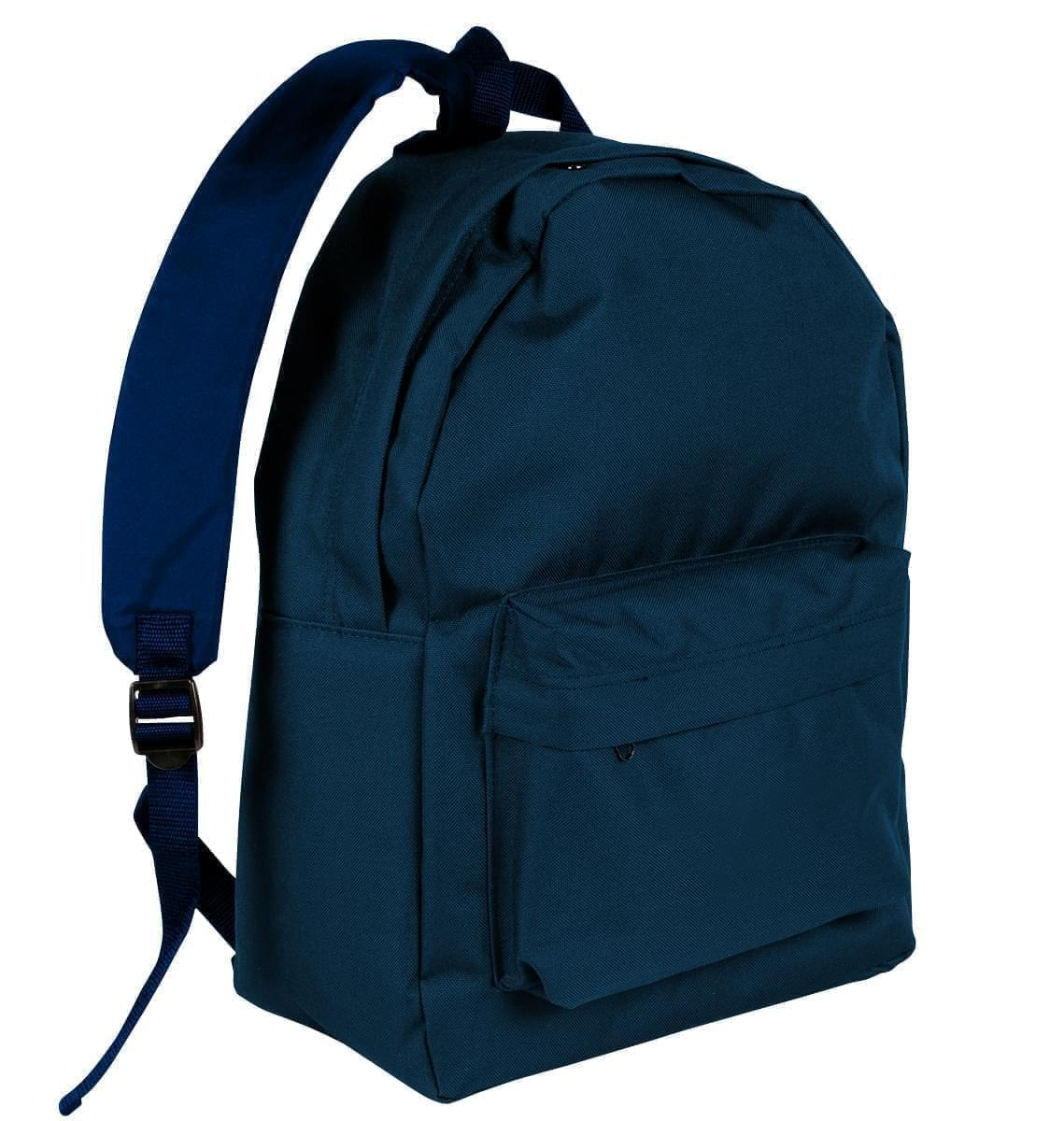 USA Made Nylon Poly Backpack Knapsacks, Navy-Navy, 8960-AWZ