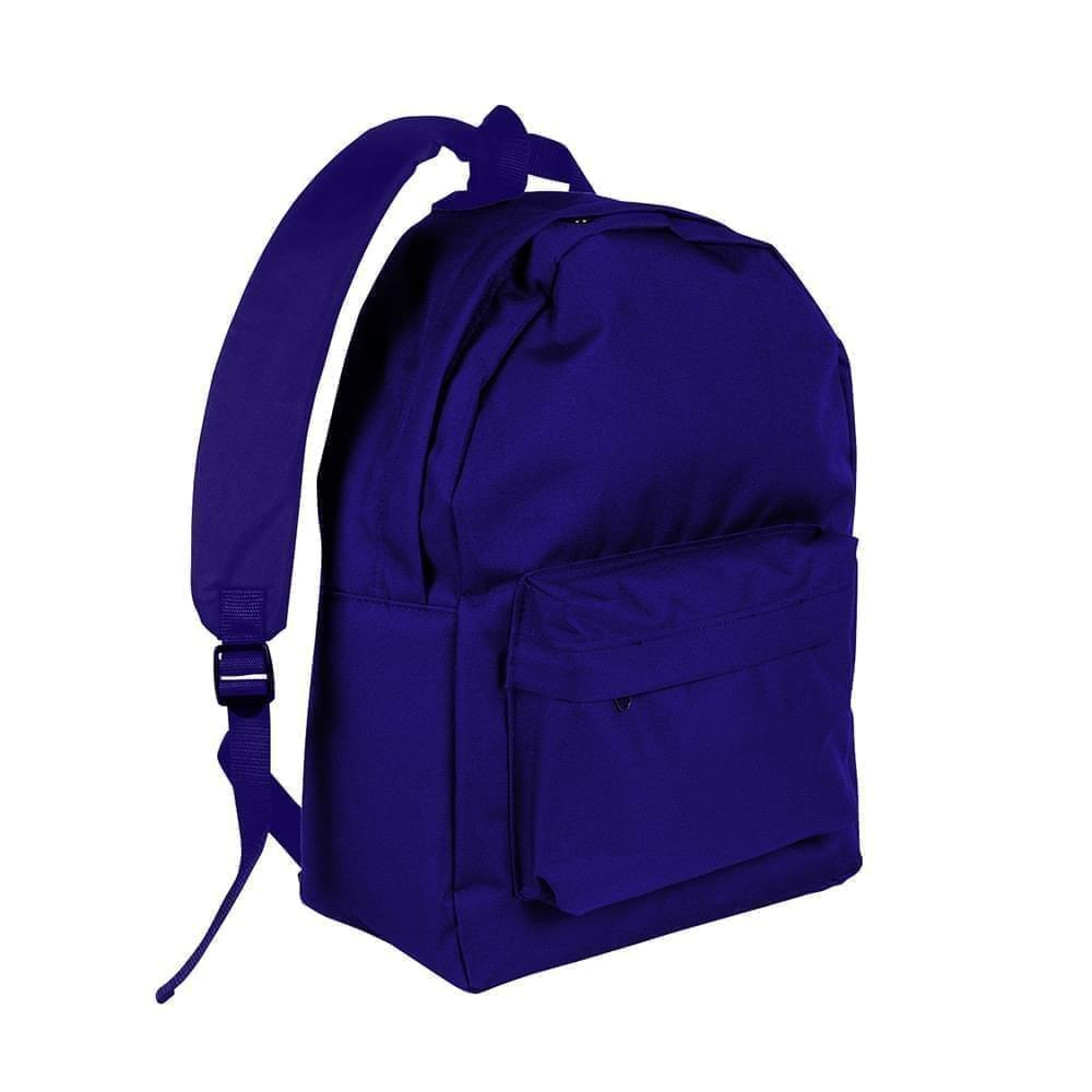 USA Made Nylon Poly Backpack Knapsacks, Purple-Purple, 8960-AY1