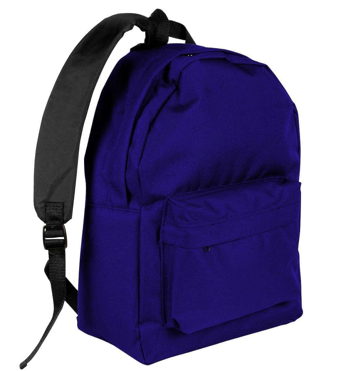 USA Made Nylon Poly Backpack Knapsacks, Purple-Black, 8960-AYR