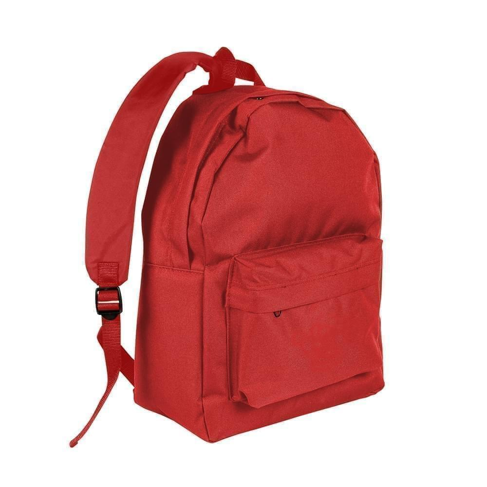 USA Made Nylon Poly Backpack Knapsacks, Red-Red, 8960-AZ2