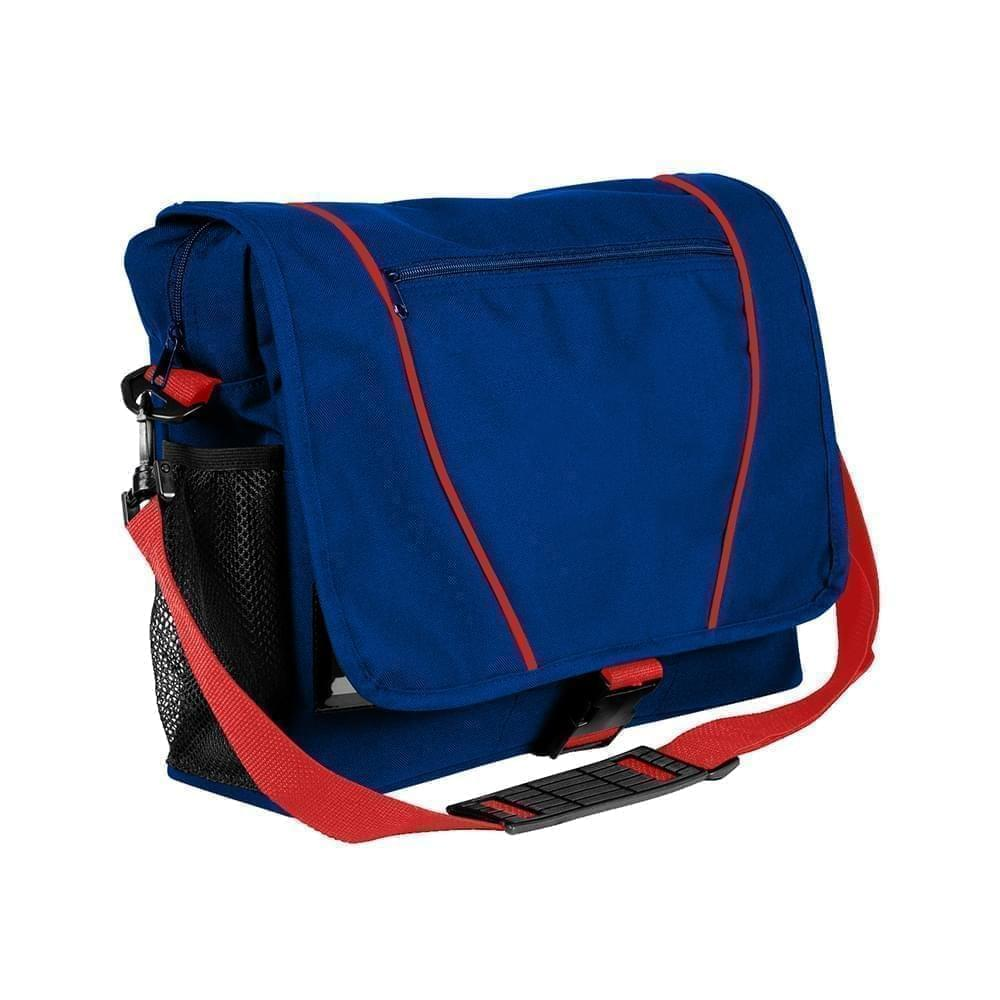 USA Made Nylon Poly Shoulder Bike Bags, Royal Blue-Red, 9001197-A02