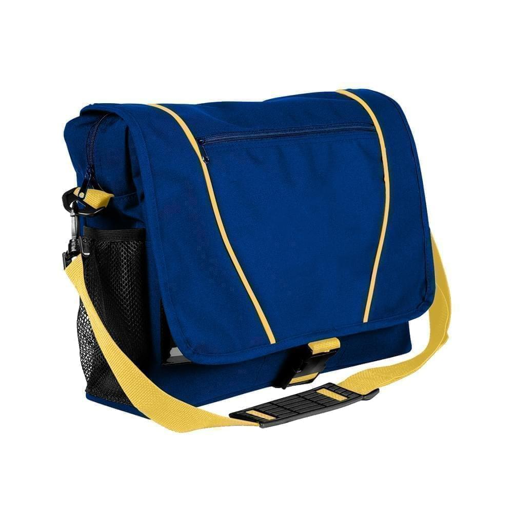 USA Made Nylon Poly Shoulder Bike Bags, Royal Blue-Gold, 9001197-A05
