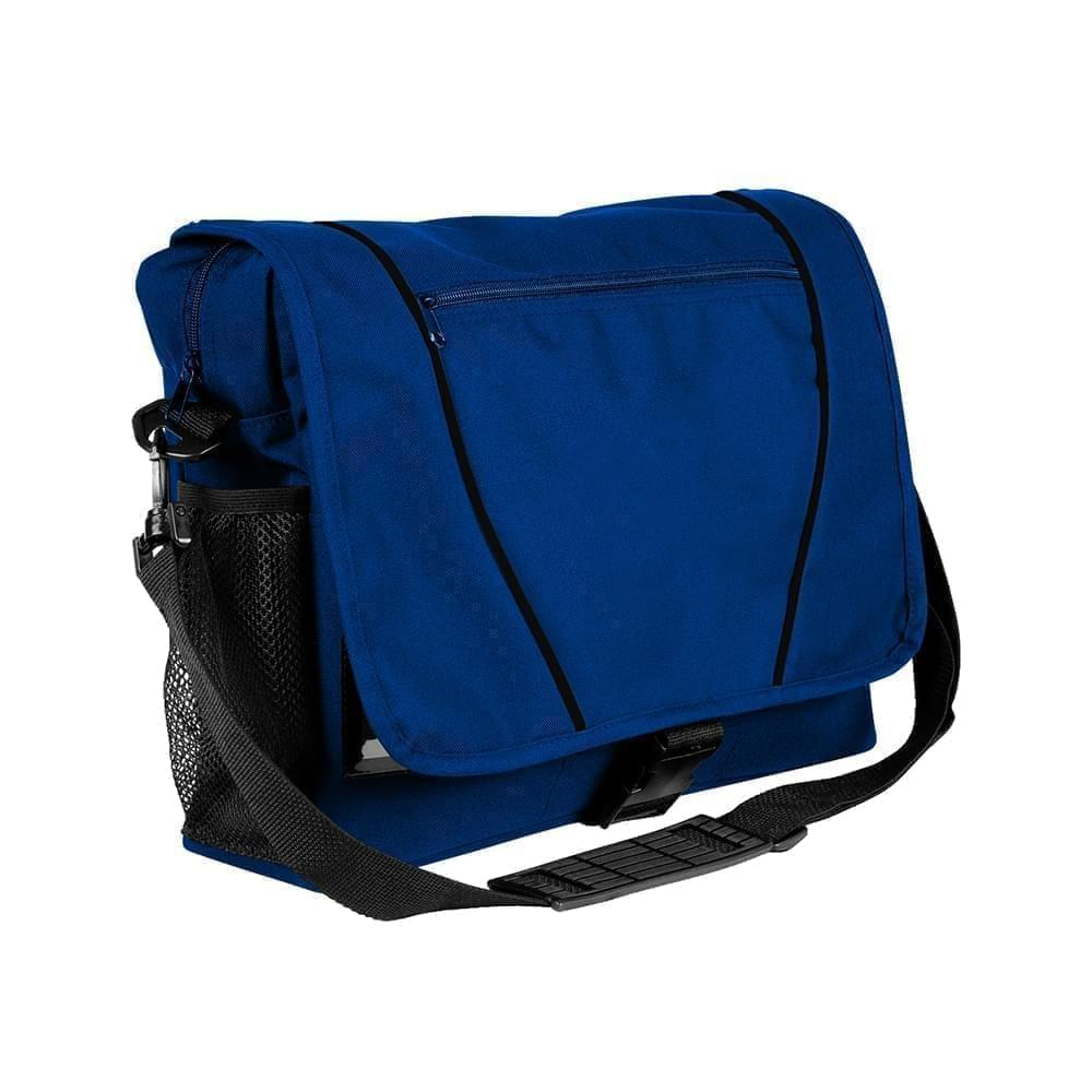 USA Made Nylon Poly Shoulder Bike Bags, Royal Blue-Black, 9001197-A0R
