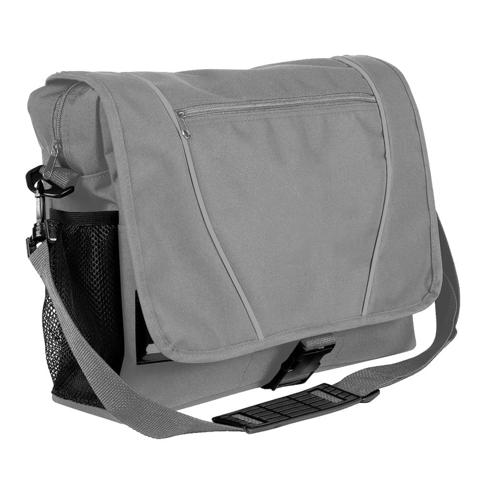 USA Made Nylon Poly Shoulder Bike Bags, Grey-Grey, 9001197-A1U