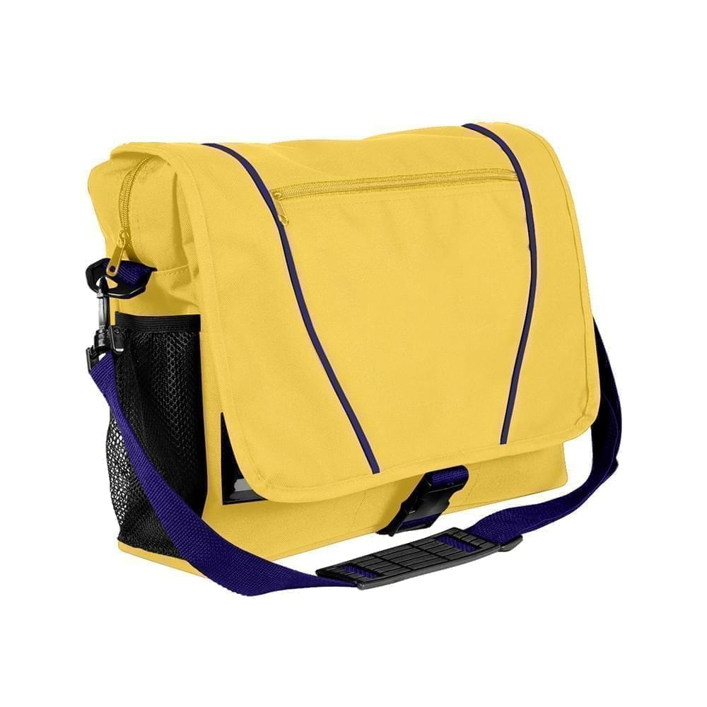 USA Made Nylon Poly Shoulder Bike Bags, Gold-Purple, 9001197-A41