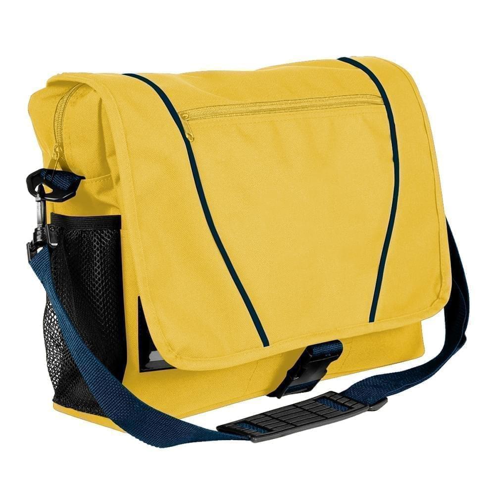 USA Made Nylon Poly Shoulder Bike Bags, Gold-Navy, 9001197-A4Z