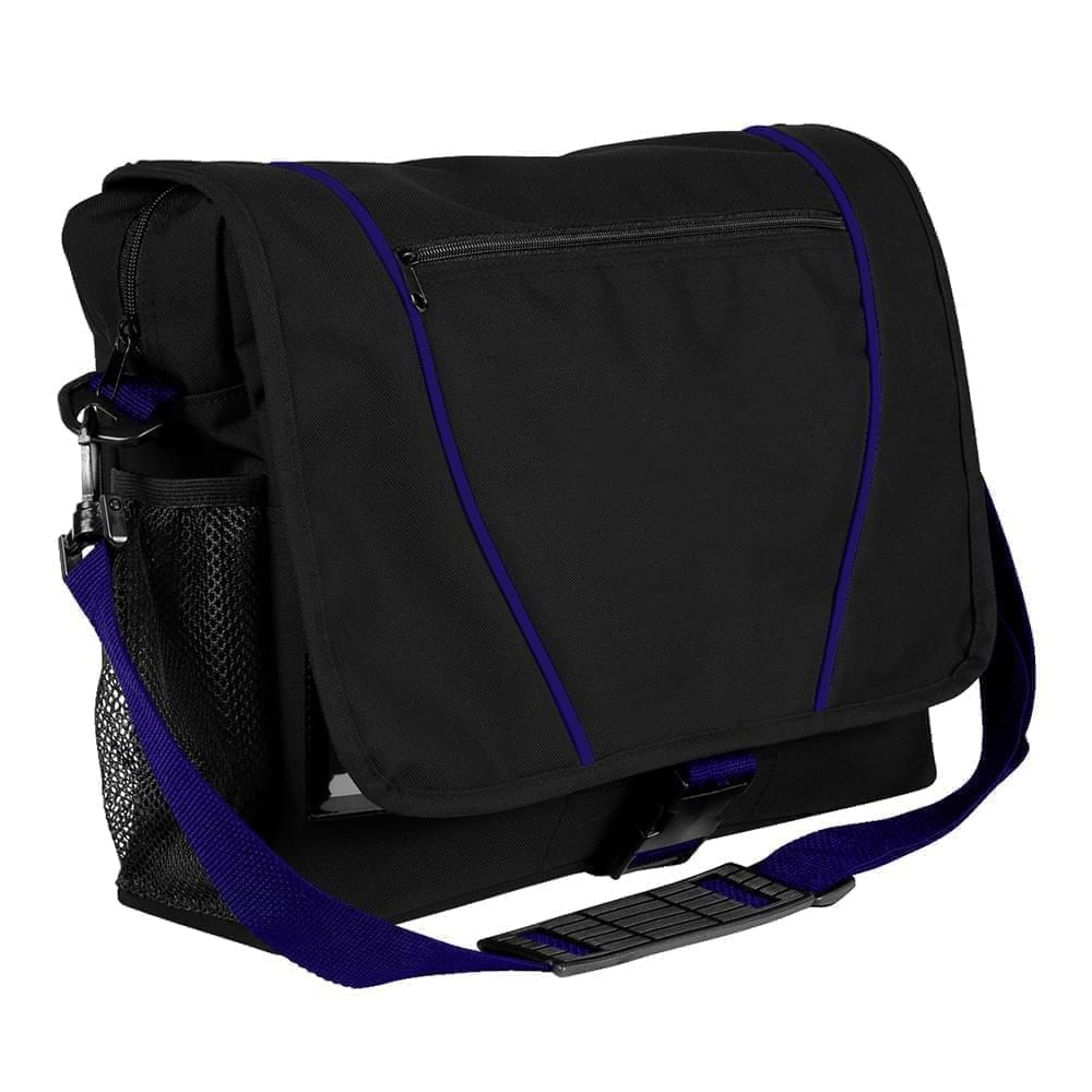 USA Made Nylon Poly Shoulder Bike Bags, Black-Purple, 9001197-AO1