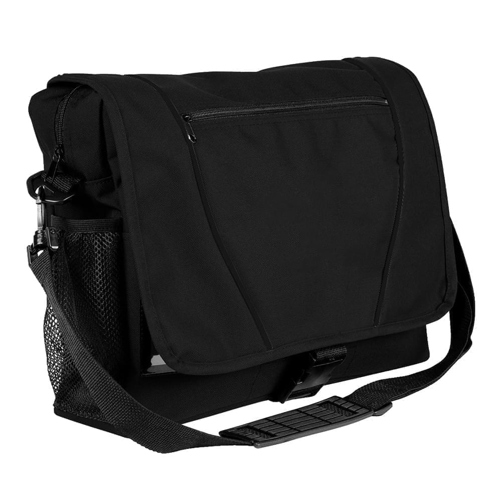 USA Made Nylon Poly Shoulder Bike Bags, Black-Black, 9001197-AOR