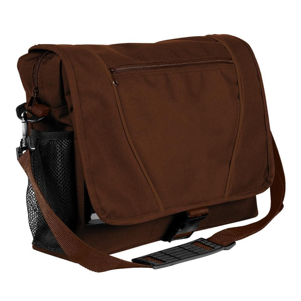 USA Made Nylon Poly Shoulder Bike Bags, Brown-Brown, 9001197-APS