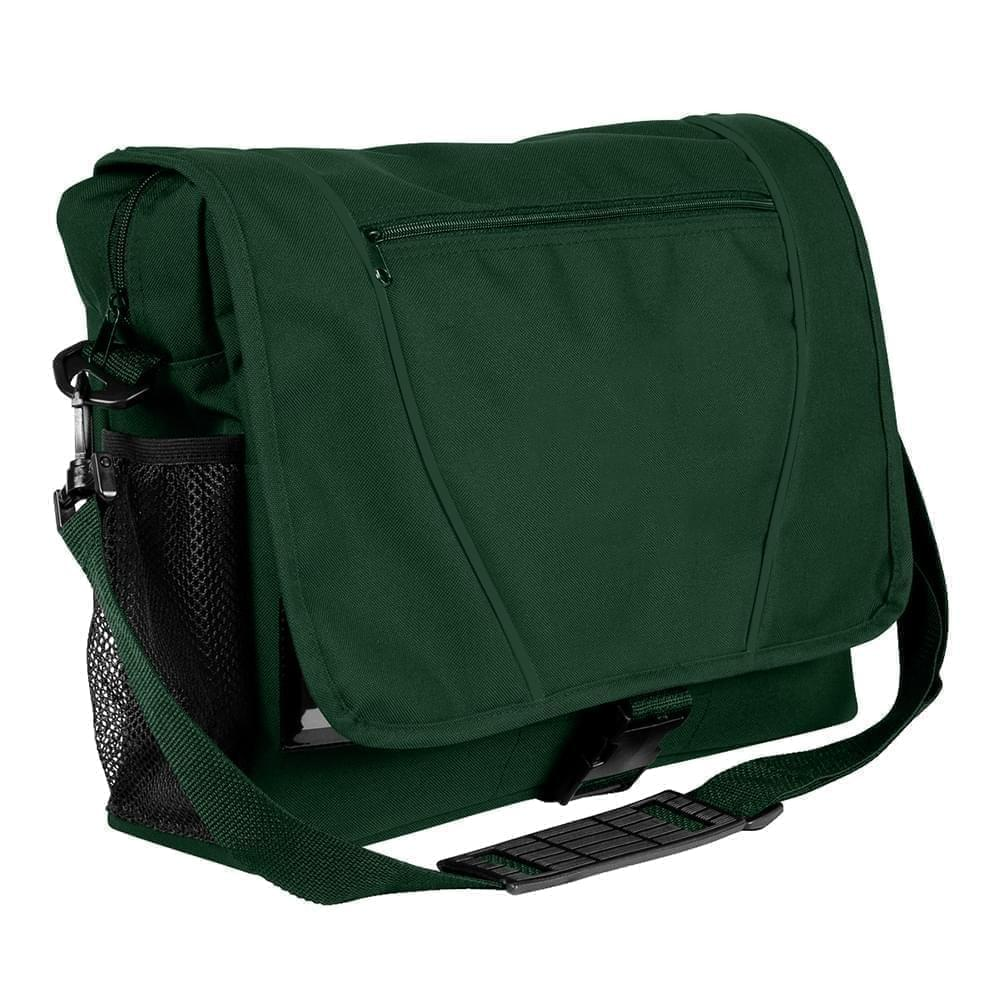 USA Made Nylon Poly Shoulder Bike Bags, Hunter Green-Hunter Green, 9001197-ASV