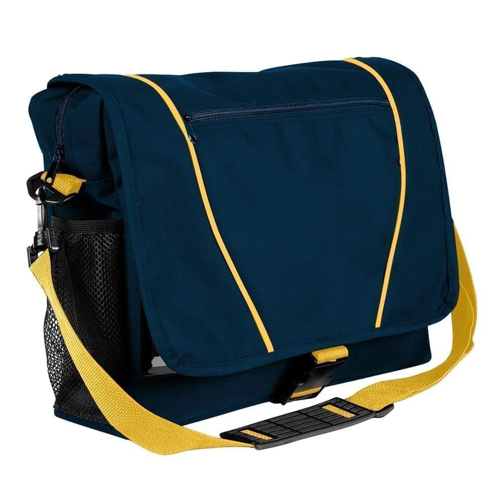 USA Made Nylon Poly Shoulder Bike Bags, Navy-Gold, 9001197-AW5