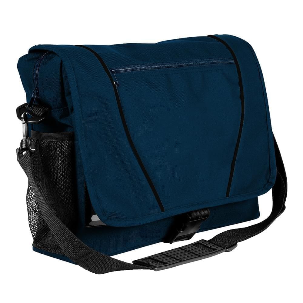 USA Made Nylon Poly Shoulder Bike Bags, Navy-Black, 9001197-AWR