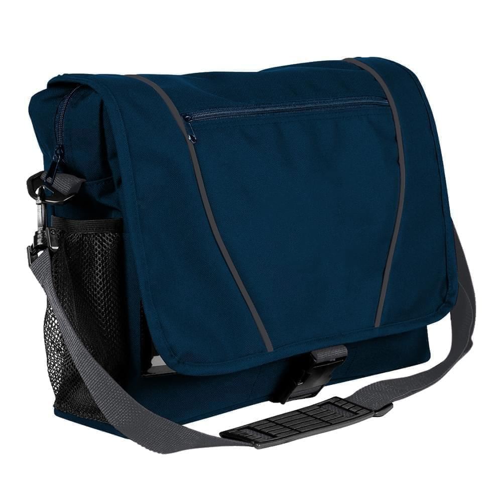 USA Made Nylon Poly Shoulder Bike Bags, Navy-Graphite, 9001197-AWT