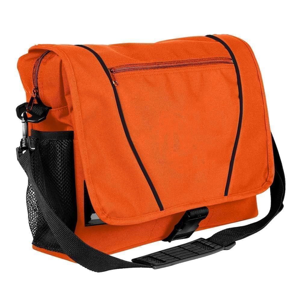 USA Made Nylon Poly Shoulder Bike Bags, Orange-Black, 9001197-AXR