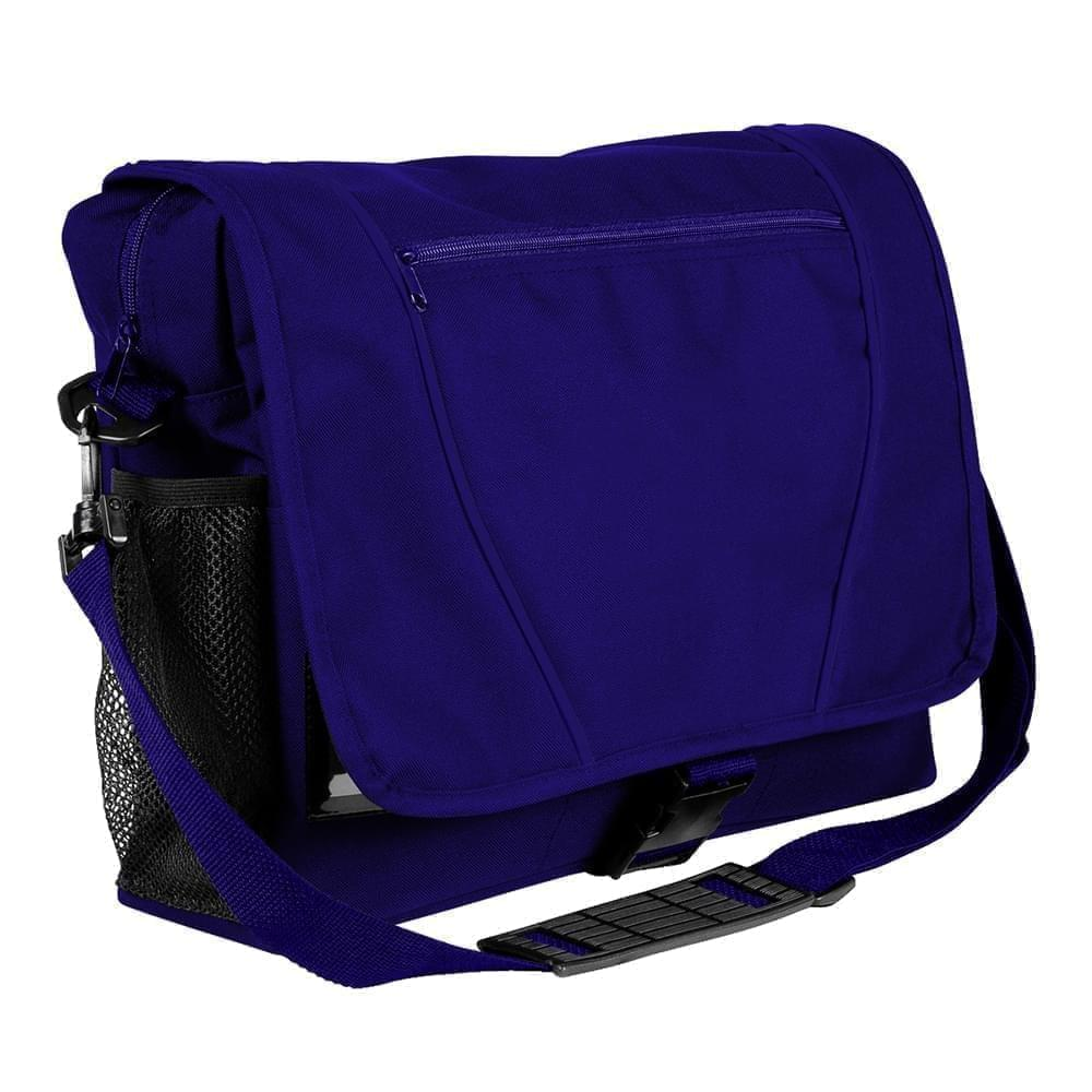 USA Made Nylon Poly Shoulder Bike Bags, Purple-Purple, 9001197-AY1
